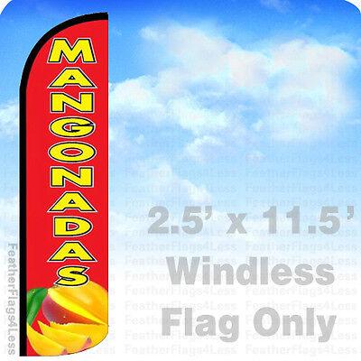 Mangonadas Mangos Windless Swooper Flag 2.5x11.5 Feather Banner Sign - Rz