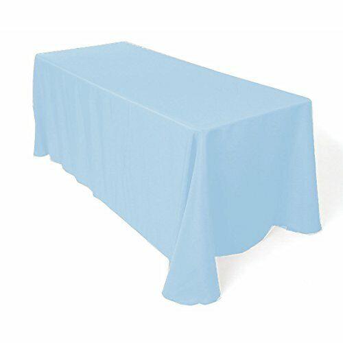 """Gee Di Moda Tablecloth Rectangle - 90 x 132"""" Rectangular Table Cloth - Baby Blue"""