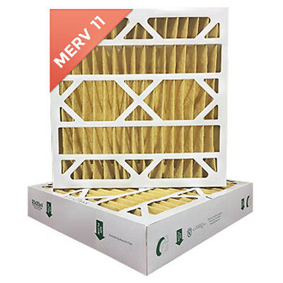 20x25x4 Merv 11 Pleated Ac Furnace Air Filters. 6 Pack Actual Depth 3-34