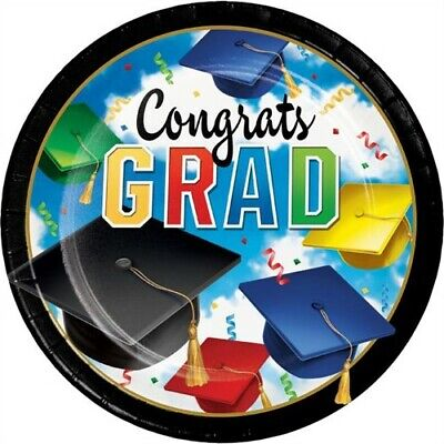 Graduation Celebration 9 Inch Paper Plates Bulk Pack 50 Pack Party Decoration](Graduation Plates)