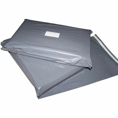 500pcs 12 x 16 Inch Grey Mailing Postage Poly Plastic Bags Free Postage in UK