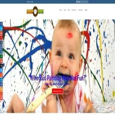 Fully Stocked Dropshipping Baby Toys Website Business For Sale Domain Name