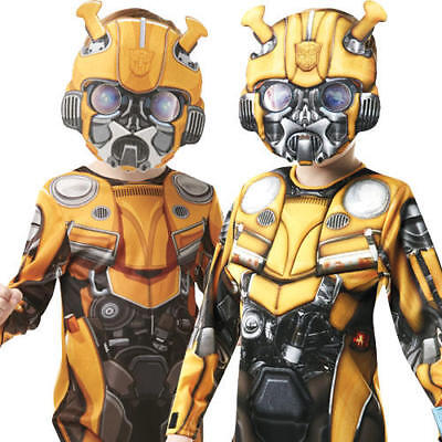 Bumblebee Transformer Boys Fancy Dress Robot Beetle Movie Kids Superhero - Boy Robot Kostüm