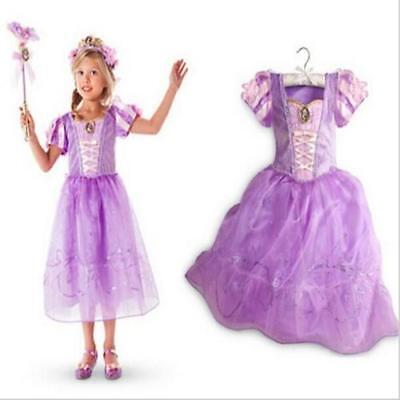 Kids Princess Party Costume Repunzel Inspired Dress for girls 3/4T