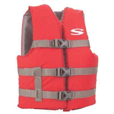 Child Youth 50-90 LB Red 3 Buckle Swimming Boating Water Sports Life Jacket (Red Kids Life Vest)