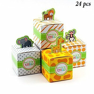24pc Baby Shower Jungle Safari Zoo Theme Favor Candy Box Safari Decor Animal  - Themed Baby Shower