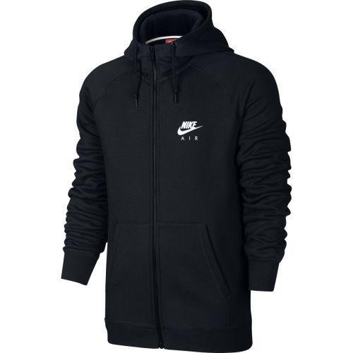 Mens Nike Air Heritage Full Zip Hoodie Fleece 809056-010 Black New Size XL