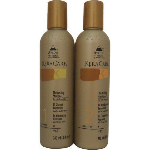 Avlon Keracare Moisturizing Color Treated Shampoo & Conditioner 8oz SET Hair Care & Styling