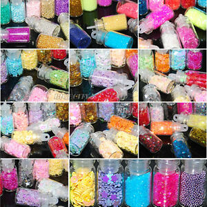 12-Mini-Bottle-Set-Glitter-Nail-Art-Powder-Tips-Rhinestone-Decoration-Manicure