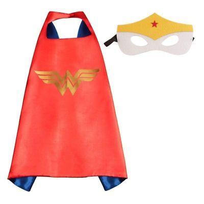 Girl Superhero Costume (New!! Little girl Halloween costume Super Hero cape & mask Set/WONDER WOMAN)
