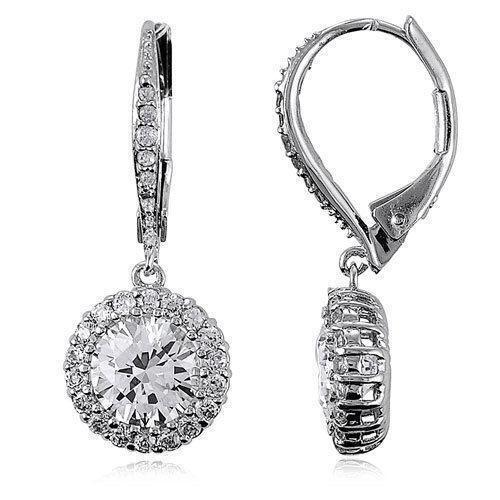 Cz Leverback Earrings Ebay