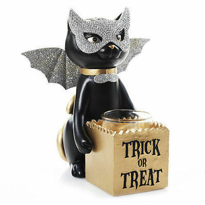 Yankee Candle SOPHIA Black Cat Votive Holder Halloween Trick or Treat New w/ Box