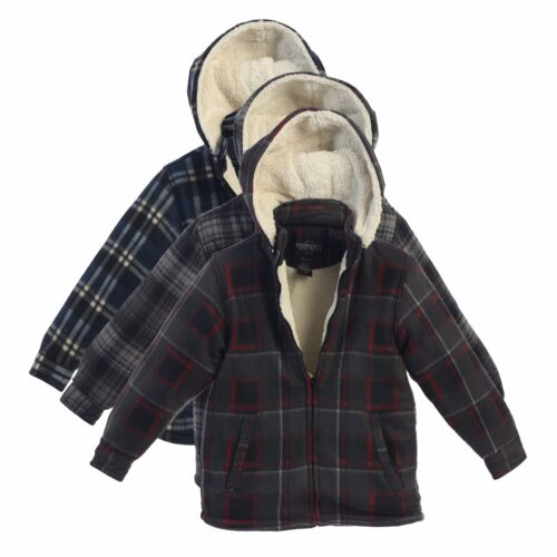 Boys Hoodie Jacket Kids Winter Warm Clothes Toddler Flannel Sherpa Lined Zip Up