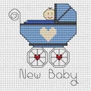 Baby Boy Cross Stitch Kit
