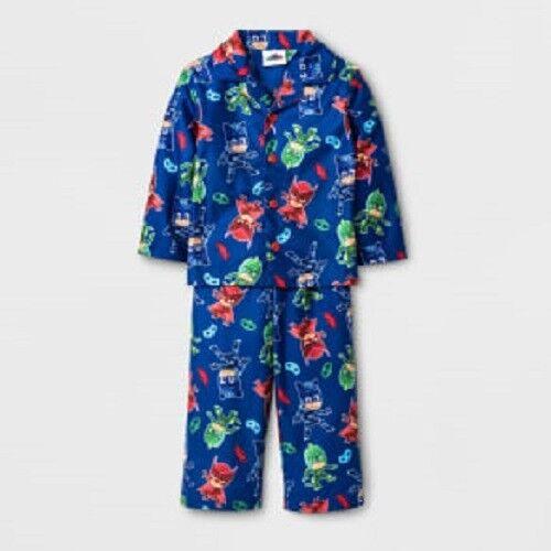 PJ Masks Toddler Boy's 2 Pc Fleece Button Up Pajama Set size 2T NWT Baby