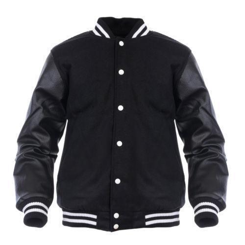 Wool Leather Jacket Ebay