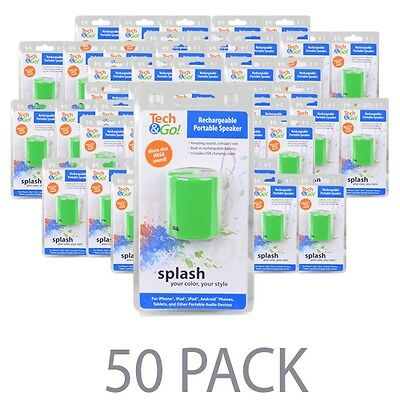 Wholesale lot of 50 Tech & Go Portable Speaker for Sandisk Sansa Clip Sport iPod