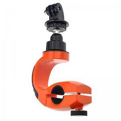Motorcycle Bike Handlebar Mount Holder for Camera/ Gopro Hero 3+ 3 2 1 Orange LW