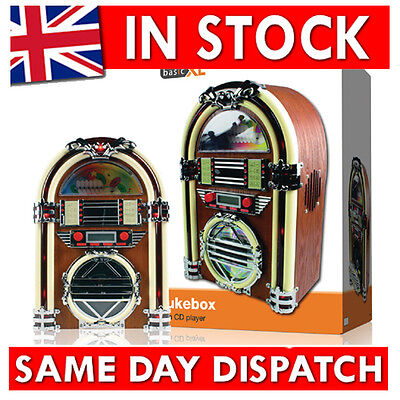 Retro Jukebox with AM FM radio and CD-player Mini Jukebox Speaker System