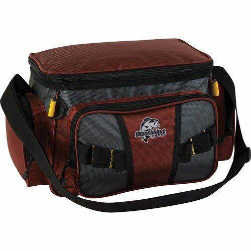 Okeechobee Fats Small Soft-Sided Tackle Bag w/2 Medium Utility Lure Box Red