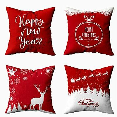 4 Pack Xmas Pillows 20X20 Pillow Cover, Christmas 20X20 Set of 4 Multi 10