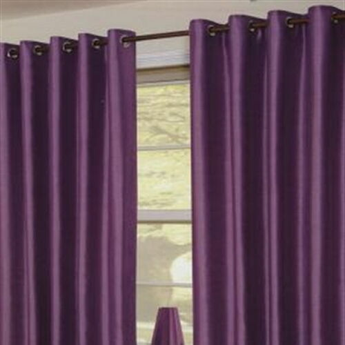 """Tuscany Linen Voile Eyelet Lined Curtains 57"""" Wide X 72"""