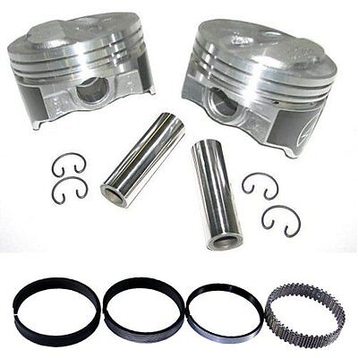 Speed Pro H618CP30 Chevy 350 355 .125 Dome Hyper Pistons & Moly Ring Kit 030 SBC