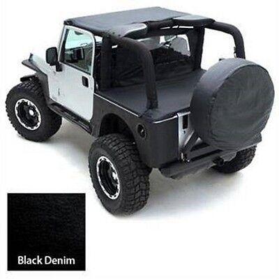 Smittybilt 1997-2002 Jeep Wrangler TJ Black Denim Summer Top Bundle SEALTJ970215 1997 Jeep Wrangler Denim