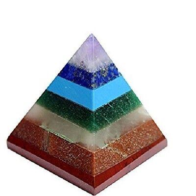 Multi Stone Pyramid 7 Chakra Energy Generator Reiki Healing Spiritual Egyptian