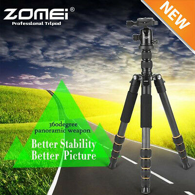 ZOMEI Q666 Aluminium Travel Tripod Monopod Ball Head for Can