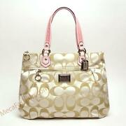 Coach Poppy Signature Sateen Glam Tote