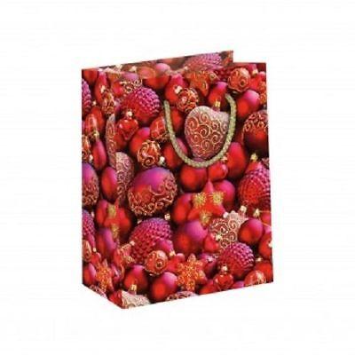 Geschenktüte Weihnachtskugeln, klein, Papier,ca. 17 x 22,5 x 9,2 cm ()