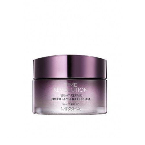 как выглядит Увлажняющее средство для кожи [MISSHA] Time Revolution Night Repair Probio Ampoule Cream 50ml фото