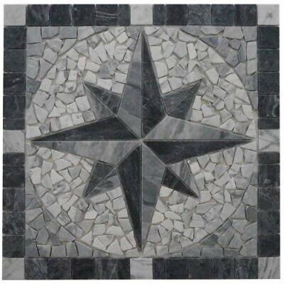 Bruch Steinmosaik Marmor weiß creme Küche Boden Fliesenspiegel WB44-0102|1Matte