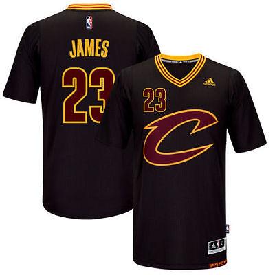 Lebron James  23 Cleveland Cavaliers Swingman Black Gold Jersey New