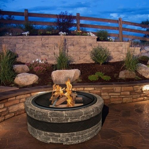 how to build a fire pit on a concrete patio ebay. Black Bedroom Furniture Sets. Home Design Ideas