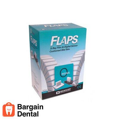 Flaps Dental X-ray Film Digital Sensor Cushioned Bite Tabs 500 Tabs -fda