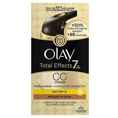 Olay Total Effects 7-in-1 CC Cream Moisturiser Medium To Dark, 50