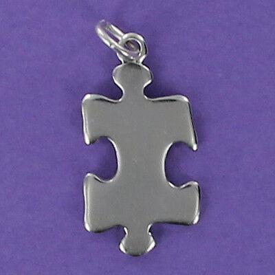 Puzzle Piece Charm (Jigsaw Puzzle Piece Charm Sterling Silver 925 for Bracelet Autism Symbol)