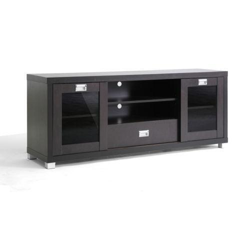 Tv Stand Glass Doors Ebay