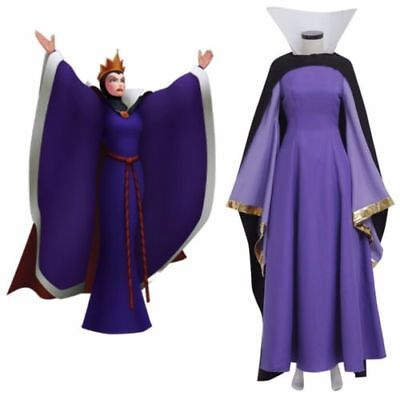 Snow White Evil Queen Dress Costume Outfit Adult Dress Cape Gloves Costume !co's - Snow White Outfit Adults