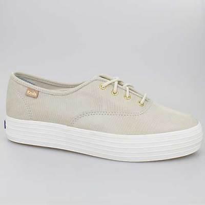 Schuhe Keds Schuh (KEDS DAMEN SCHUHE TRIPLE KICK BEIGE LEDER WH58026)
