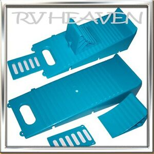 1 Wheel Leveller Chock & Anti-Slip Plate Kit Ramp Caravan caravan Trailer Chocks