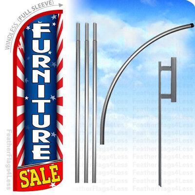 Furniture Sale - Windless Swooper Flag 15 Kit Banner Sign - Starburst Rq