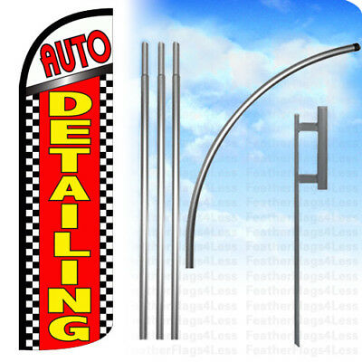 Auto Detailing - Windless Swooper Feather Full Sleeve Banner Sign Flag Kit Chrq