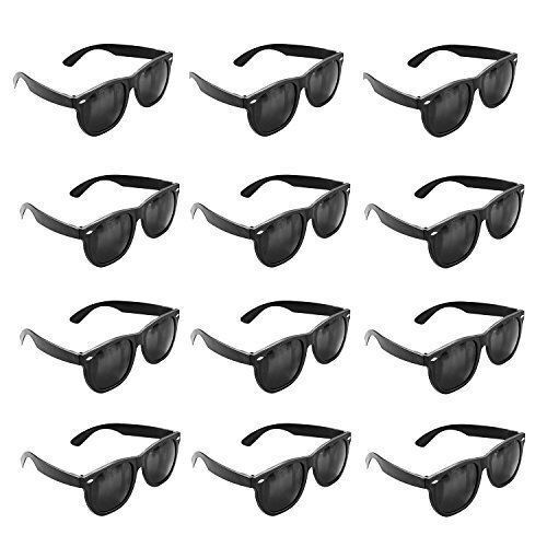 24pk BLACK CLASSIC 80s KIDS Sunglasses Party Props Birthday