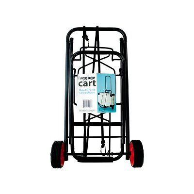 Portable Folding Luggage Cart Travel Compact Suitcase Carrier Wheel Trolley NEW