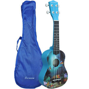 New-Soprano-Ukulele-Basswood-body-Nato-Neck-Timber-With-Carry-Bag