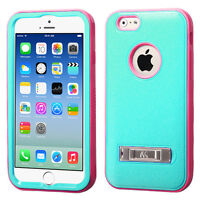iPhone 6 Verge Hybrid Protector Case - Teal Green/Electric Pink
