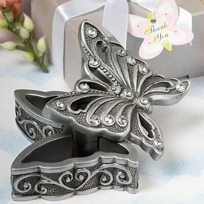 Butterfly Jewelry Trinket Box Gift Baby Bridal Shower Favors